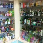 Dans une pharmacie (et non un supermarché)