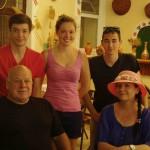 Photo de famille avec Philippe & Reisa