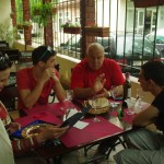 Repas au France-Prut avec Philippe